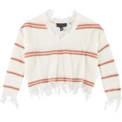 Polly & Esther Juniors Distressed Crop Sweater