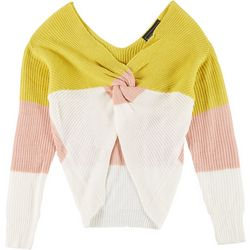Polly & Esther Juniors Twisted Colorblock Sweater