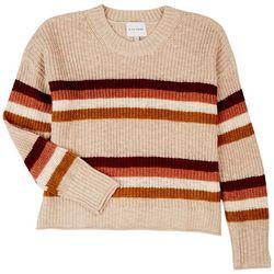Pink Rose Juniors Striped Cozy Sweatshirt