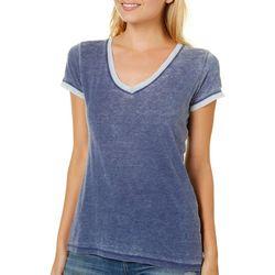 Poof Juniors Colorblock Burnout T-Shirt