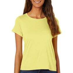Rebellious One Juniors Solid Basic Short Sleeve Top