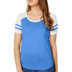 Exist Juniors Colorblock Athletic Striped T-Shirt