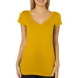 Derek Heart Juniors Solid V-Neck T-Shirt