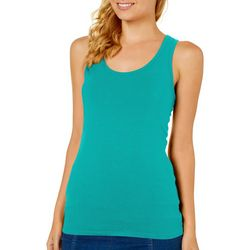 Derek Heart Juniors Solid Scoop Neck Tank Top