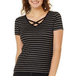 Splash Juniors Striped Crisscross T-Shirt