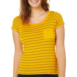 Splash Juniors Striped Pocket T-Shirt