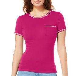 Splash Juniors Athletic Striped Chest Pocket T-Shirt