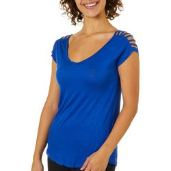 Splash Juniors Solid Caged Shoulder Top
