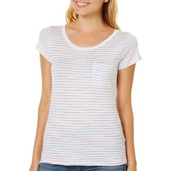 Splash Juniors Multi Stripe Pocket T-Shirt