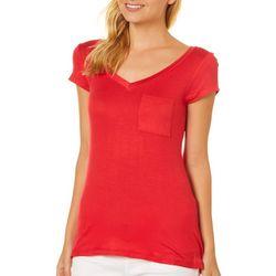 Splash Juniors Solid Pocket T-Shirt