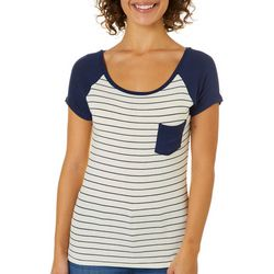 Splash Juniors Colorblock Striped Pocket Top