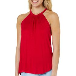 Splash Juniors Solid Keyhole Back Sleeveless Top