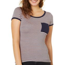 Splash Juniors Striped Ringer T-Shirt