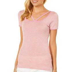 Splash Juniors Striped Clavicle Cut T-Shirt
