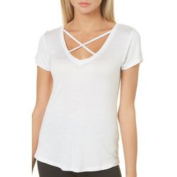 Glitz Juniors Solid Crisscross T-Shirt