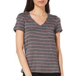 Glitz Juniors Striped Crisscross Shoulder Top