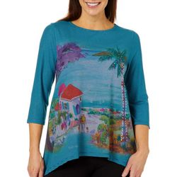 Ellen Negley Womens Island Life Striped Top