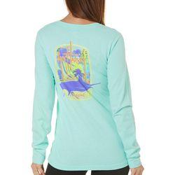 Guy Harvey Womens Chasin' Sailfish Long Sleeve T-Shirt