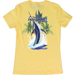 Guy Harvey Womens Palm Tree Splash Sailfish T-Shirt