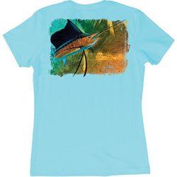 Guy Harvey Womens Vela Solo Sailfish T-Shirt