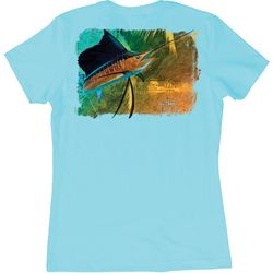 Guy Harvey Womens Vela Solo Sailfish T-Shirt