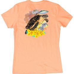 Guy Harvey Womens Boxy Rising T-Shirt