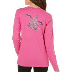 Guy Harvey Womens Turtle Beach Long Sleeve T-Shirt
