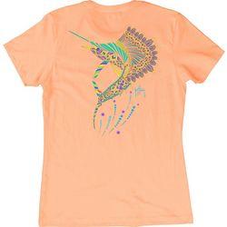 Guy Harvey Womens Sailfish Mandala T-Shirt