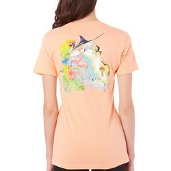 Guy Harvey Womens Florida Icons T-Shirt