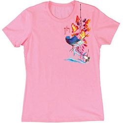 Guy Harvey Womens Floral Sailfish T-Shirt