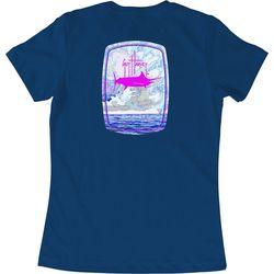 Guy Harvey Womens Sailfish Ocean T-Shirt