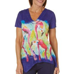 Ellen Negley Womens Birds Of A Feather Print Top