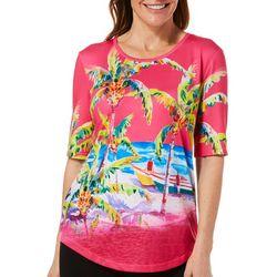 Ellen Negley Womens Beach Bums Back Cutout Top