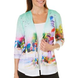 Ellen Negley Womens Beachside Beacon Cardigan