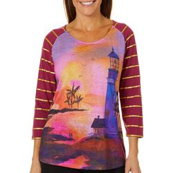 Ellen Negley Womens Twlight Delight Glitter Top