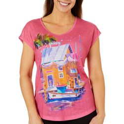 Ellen Negley Womens Fresh Fish Dolman Top
