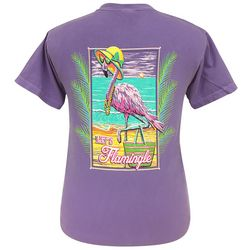 Girlie Girl Originals Juniors Let's Flamingle T-Shirt