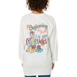 Its a Girl Thing Juniors Look Like Christmas Long Sleeve Top