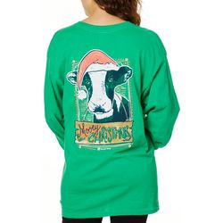 Its a Girl Thing Juniors Mooey Christmas Top