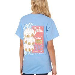 Its a Girl Thing Juniors Girls Just Wanna Have Buns T-Shirt