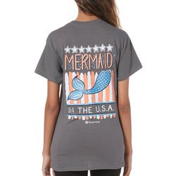 Its a Girl Thing Juniors Mermaid In The U.S.A. T-Shirt