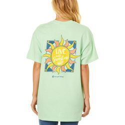Its a Girl Thing Juniors Live In The Sun T-Shirt