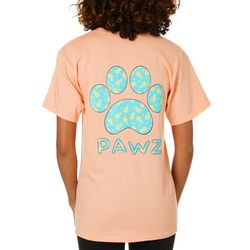 PAWZ Juniors Pineapple Paw Print Short Sleeve T-Shirt