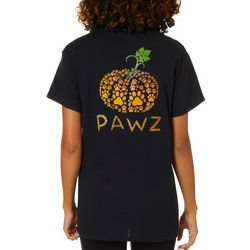 PAWZ Juniors Pumpkin Paw Print Short Sleeve T-Shirt