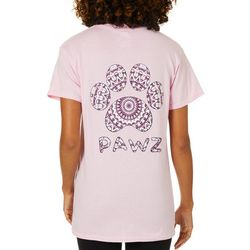 PAWZ Juniors Kaleidoscope Paw Print Short Sleeve T-Shirt