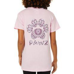 PAWZ Juniors Kaleidoscope Paw Print Short Sleeve T-Shirt