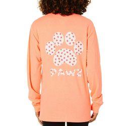 PAWZ Juniors Daisy Paw Print Short Sleeve T-Shirt