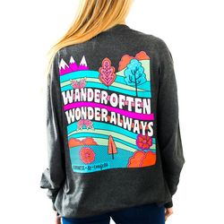Kindness & Confetti Juniors Wander Often Long Sleeve Shirt