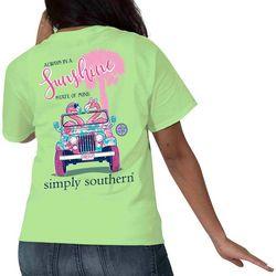 Simply Southern Juniors Flamingo Sunshine T-Shirt