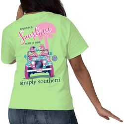 Simply Southern Juniors Flamingo Sunshine T-Shirt